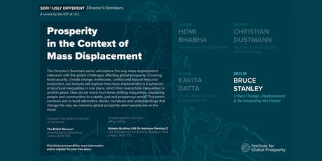 Director's Seminar: Urban Change, Displacement and Re-imagining the Future tickets
