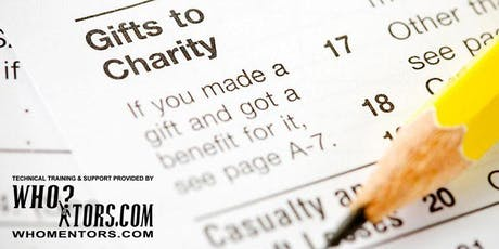 Need Tax Deductions? Create your own 501(c)(3) organization. Donate 60%! tickets