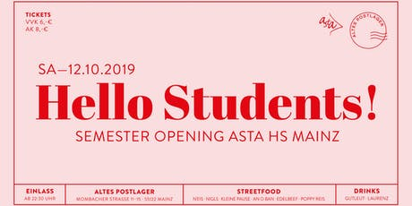 Semester Opening HS Mainz Tickets