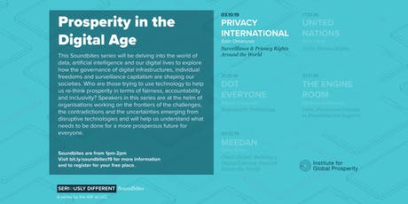 Soundbite: The Scramble for Data: How & Why Surveillance Is Being Exported Around the World  tickets