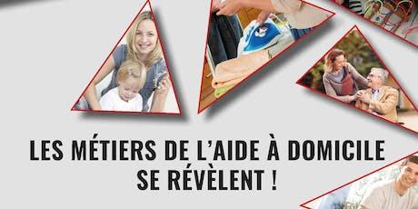 LES MÉTIERS DE L'AIDE À DOMICILE SE RÉVÈLENT !  billets