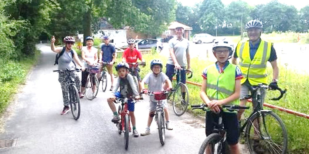 Sustrans guided family bike ride in Redhill Registration