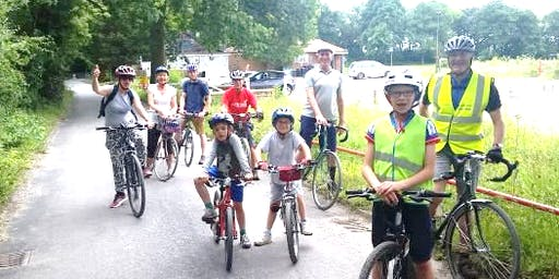 Sustrans guided family bike ride in Redhill