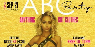 ABC PARTY: ANYTHING BUT CLOTHES