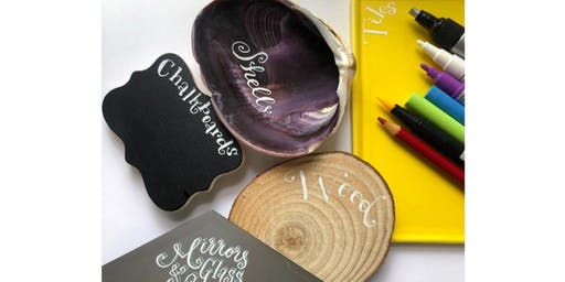 SEAPORT BOS: Creative Hand-Lettering on Chalkboards, Mirrors, Shells & more