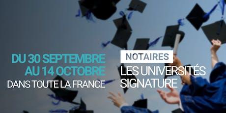 Universités Signature billets