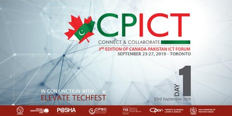 Canada-Pakistan ICT Forum ( CPICT-2019) - Day 1 tickets