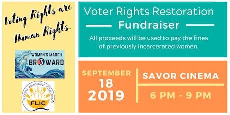 Voter Rights Restoration Fundraiser tickets