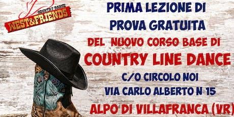 LEZIONE DI PROVA GRATUITA ALPO DI VILLAFRANCA (VR) - COUNTRY LINE DANCE biglietti