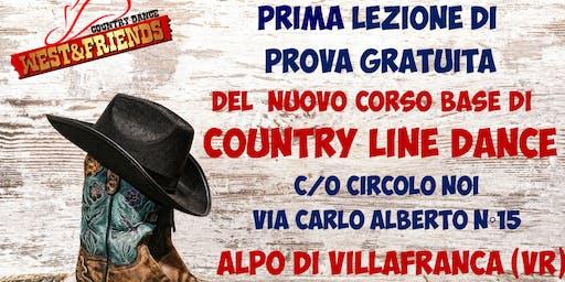 LEZIONE DI PROVA GRATUITA ALPO DI VILLAFRANCA (VR) - COUNTRY LINE DANCE