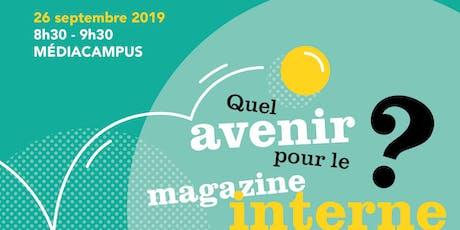 Petit déj - débat à Nantes : quel avenir pour le magazine interne ? billets