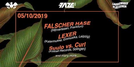 Lauschiges Plätzchen w/ Falscher Hase & Lexer im U-Club Tickets