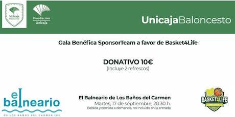 GALA BENÉFICA SPONSORTEAM EN BENEFICIO DE BASKET 4LIFE entradas