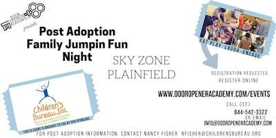 Post Adoption Family Jumpin' FUN Night Sky Zone Plainfield