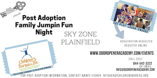Post Adoption Family Jumpin' FUN Night Sky Zone Plainfield