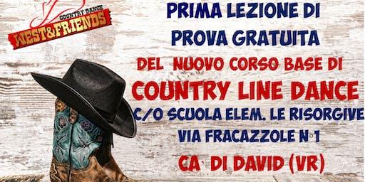 LEZIONE DI PROVA GRATUITA A CADIDAVID  (VR)  - COUNTRY LINE DANCE