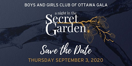 "2020 BGCO Gala: ""a night in the Secret Garden"" billets"