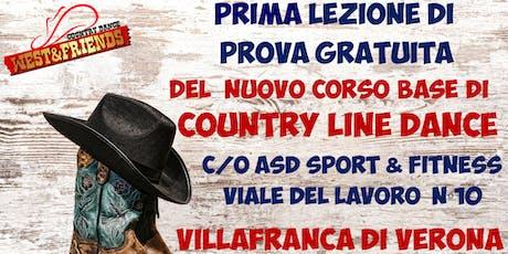 LEZIONE DI PROVA GRATUITA A VILLAFRANCA (VR) - COUNTRY LINE DANCE biglietti