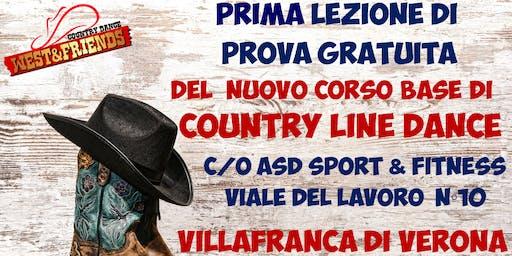 LEZIONE DI PROVA GRATUITA A VILLAFRANCA (VR) - COUNTRY LINE DANCE