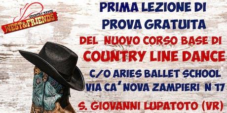 LEZIONE DI PROVA GRATUITA A SAN GIOVANNI LUPATOTO (VR) - COUNTRY LINE DANCE biglietti