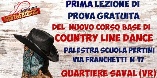 LEZIONE DI PROVA GRATUITA QUARTIERE SAVAL (VR) - COUNTRY LINE DANCE