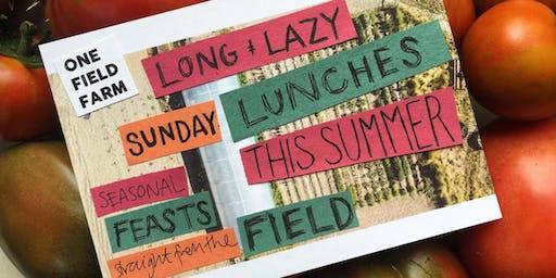 One Field Farm - Curry feast - Sunday 15th September