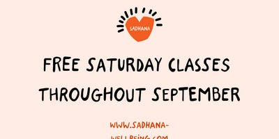 Free Saturday Yoga in Dalston throughout September