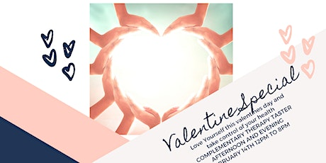 Complementary Therapy Taster afternoon and evening VALENTINE SPECIAL - FREE tickets