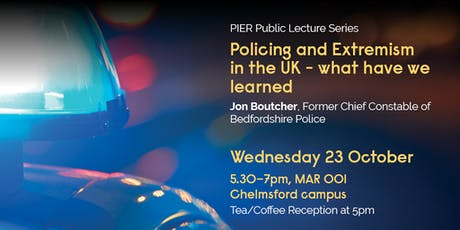 Jon Boutcher QPM, Former Chief Constable of Bedfordshire Police. 'Policing and Extremism in the UK – what have we learned' tickets