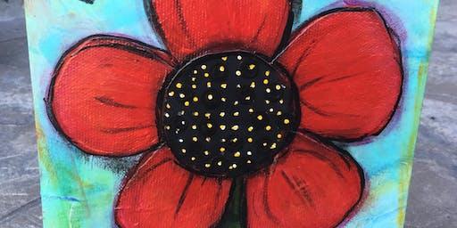 Floral Mixed Media Art Class