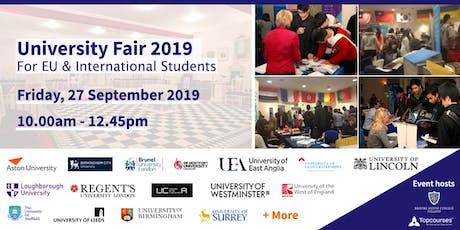 University Fair 2019 tickets