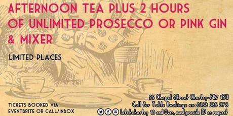 October Unlimited Afternoon Tea tickets