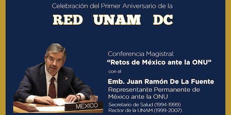 Celebración del Primer Aniversario de la Red UNAM DC tickets