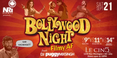 Bollywood Night - Filmy AF billets
