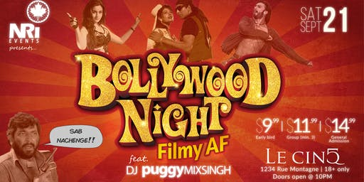 Bollywood Night - Filmy AF