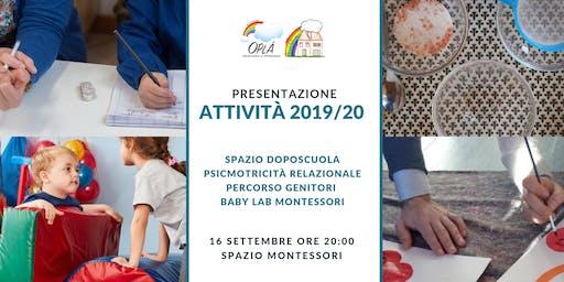 Presentazione attività per bambini 2-13 anni Spazio Montessori Oplà