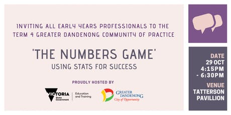 Greater Dandenong Term 4 Community of Practice tickets