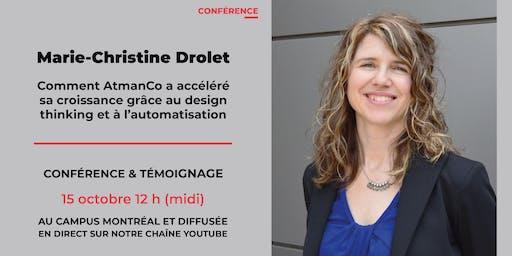 Conférence avec Marie-Christine Drolet d'AtmanCo
