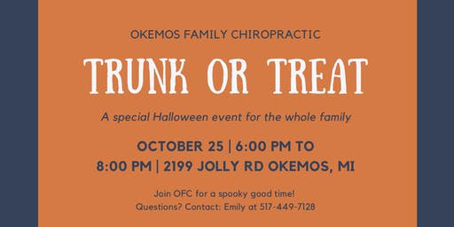 Trunk or Treat at Okemos Family Chiropractic