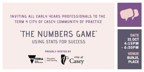 City of Casey Term 4 Community of Practice tickets