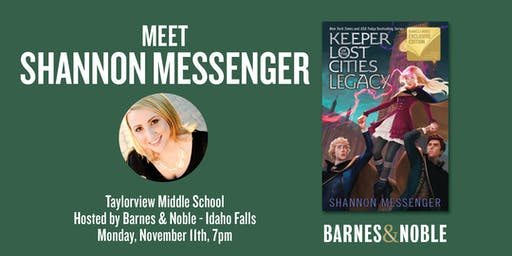 Meet Shannon Messenger as she discusses LEGACY - Idaho Falls, ID