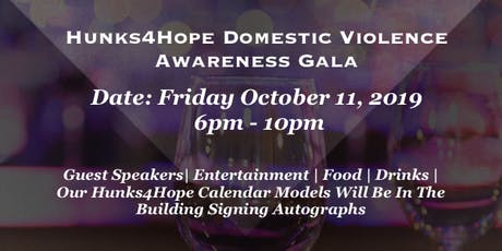 6th Annual Hunks4Hope Domestic Violence Benefit Gala tickets