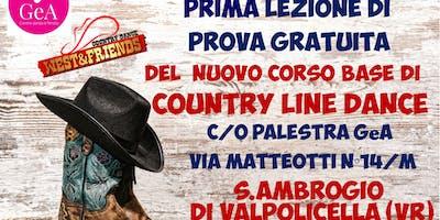 LEZIONE DI PROVA GRATUITA SANT'AMBROGIO DI VALPOLICELL - COUNTRY LINE DANCE