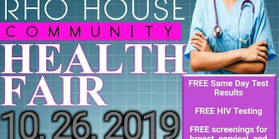 Rho House Community Health Fair