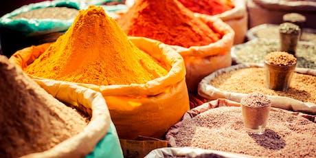 Alimentação Ayurvedica e preparação de masalas. ingressos
