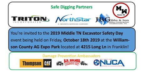 2019 Middle TN Excavator Safety Day tickets