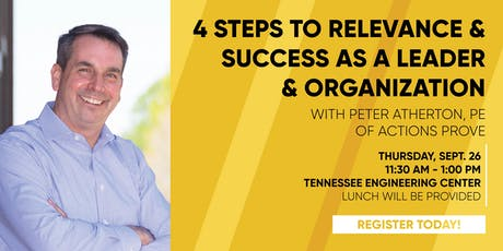4 Steps to Relevance & Success as a Leader & Organization tickets