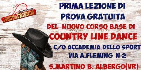 LEZIONE DI PROVA GRATUITA A S.MARTINO BUON ALBERGO -VR - COUNTRY LINE DANCE biglietti
