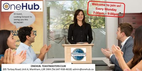 """One"" Leadership Series - OneHub. Toastmasters Club - Oct.21, 2019 tickets"