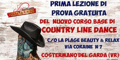 LEZIONE DI PROVA GRATUITA A COSTERMANO (VR) - COUNTRY LINE DANCE biglietti